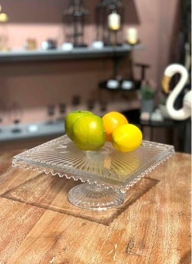 The Mia Cam Kare Pasta & Kek Servisi 25 x 25 Cm Renksiz